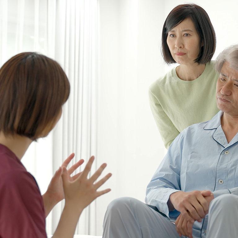 利用者やその家族との関係で生じるストレス
